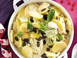 Cremiger Kartoffelsalat mit Kürbiskernen Rezept