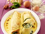 Crêpes mit Spinat-Ricotta-Füllung  Rezept