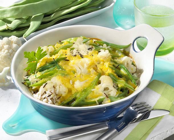 Curry-Bohnenauflauf Rezept