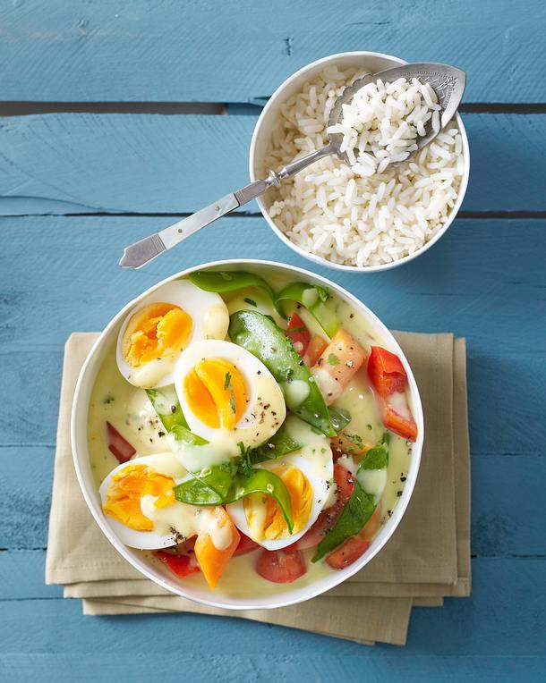 Curry-Eier-Ragout Rezept