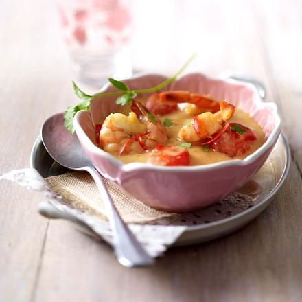Curry-Garnelen in Kokosmilch Rezept