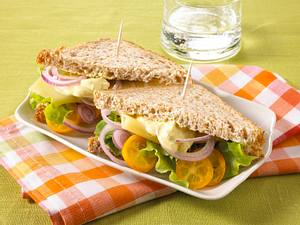 Curry-Käse-Sandwich (Diät) Rezept