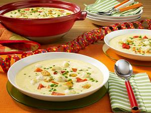 Curry-Kokos-Suppe mit Geflügel Rezept