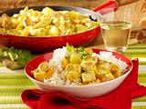 Curry-Putengeschnetzelts Rezept