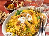 Curry-Reis mit gebratenen Bananen Rezept