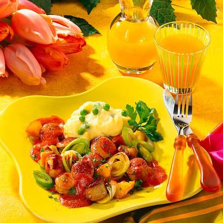 Currywurst-Apfel-Ragout Rezept