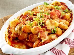 Currywurst-Gnocchi-Auflauf Rezept