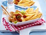 Currywurst-Pfanne mit Pommes frites Rezept