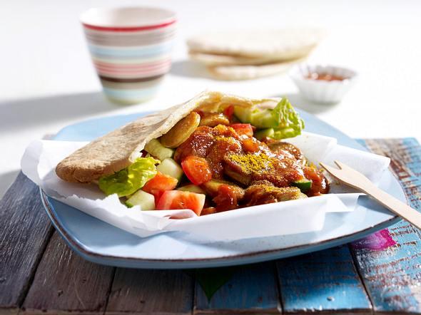 Currywurst-Pita Rezept