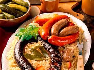 Das große Thüringer Topfwurst-Sauerkrautessen Rezept