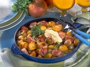 Deftige Kartoffel-Kasseler-Pfanne Rezept