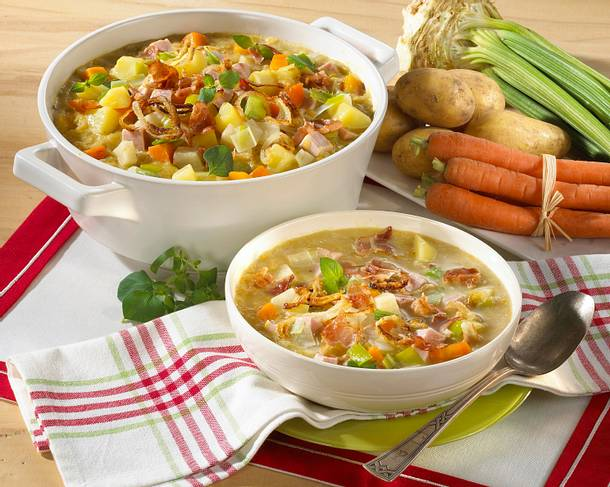 Deftige Kartoffelsuppe Rezept