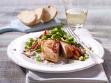 Dicke Bohnen in Gorgonzoalsahne zu Hähnchenfilet Rezept