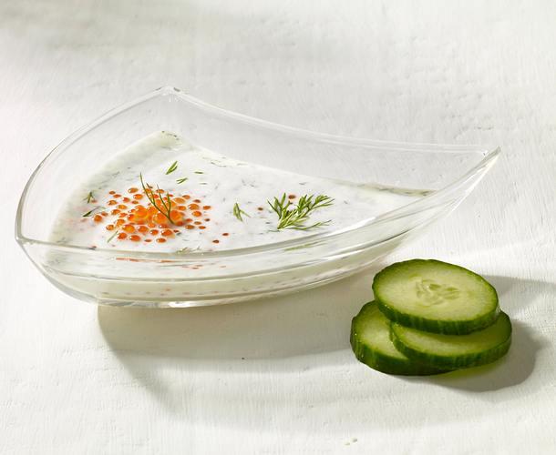 Dill joghurt Dressing mit Forellenkavier Rezept