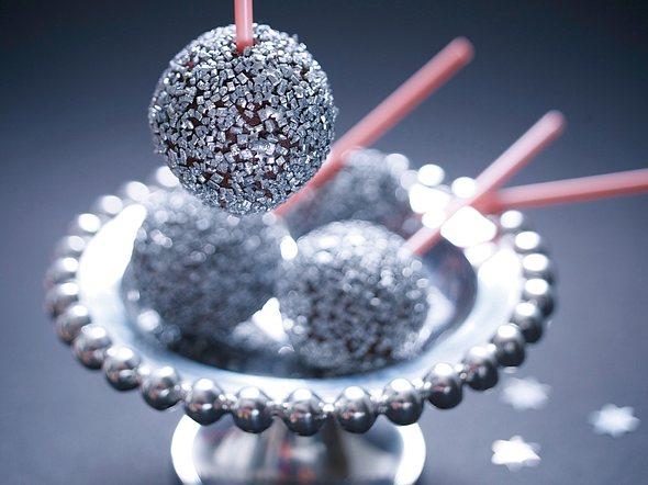 Discokugel-Cake-Pops Rezept