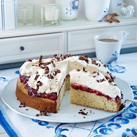 Donauwellen-Kuchen mit Preiselbeeren Rezept