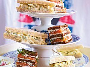 Doubledecker- und Single-Sandwiches Rezept
