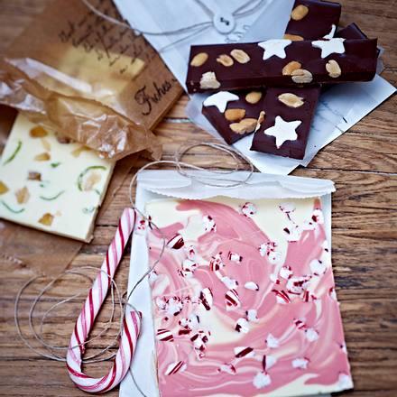Drei selbst gemachte Schokoladen Rezept