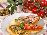 Dreierlei Crostini mit Pilzen, Tomaten und Thunfisch Rezept