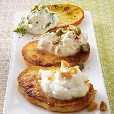 Dreierlei-Kartoffel-Crostini Rezept