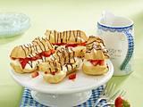 Eclairs mit Pudding-Erdbeer-Füllung Rezept