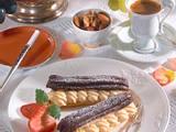 Eclairs mit Schokolade Rezept