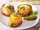 Ei und Schinken in Aspik Rezept