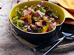 Eichblattsalat mit gebratenem Kürbis und Schwarzwälder Schinken Rezept