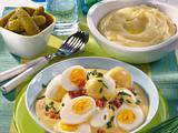 Eier in Schinken-Senf-Soße Rezept