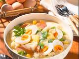 Eier-Kartoffel-Ragout mit Würstchen Rezept