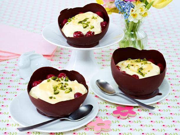 Eierlikör-Mascarpone-Creme mit Kirschen Rezept