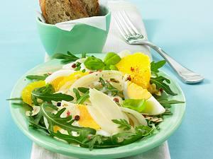 Eiersalat mit Fenchel in Orangen-Joghurtsoße Rezept