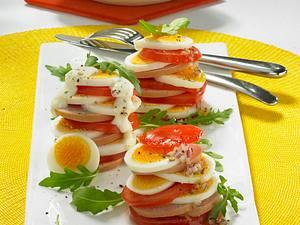 Eiersalat mit zweierlei Dressing Rezept