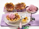 Eis-Kaffee-Tarteletts (für 4 Stück) Rezept