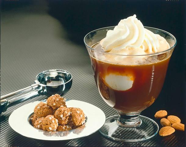 Eiskaffee mit Amaretto Rezept