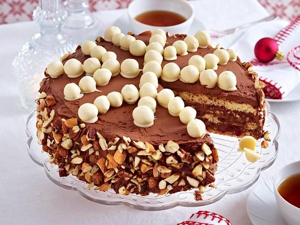 Eiskristall- Trüffelcreme-Torte Rezept