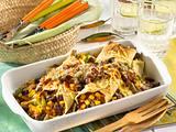 Enchiladas gefüllt mit Hackfleisch und Bohnen Rezept