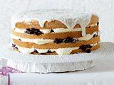 Engelskuchen mit Zimtblaubeeren und Vanille-Sahnepudding Rezept