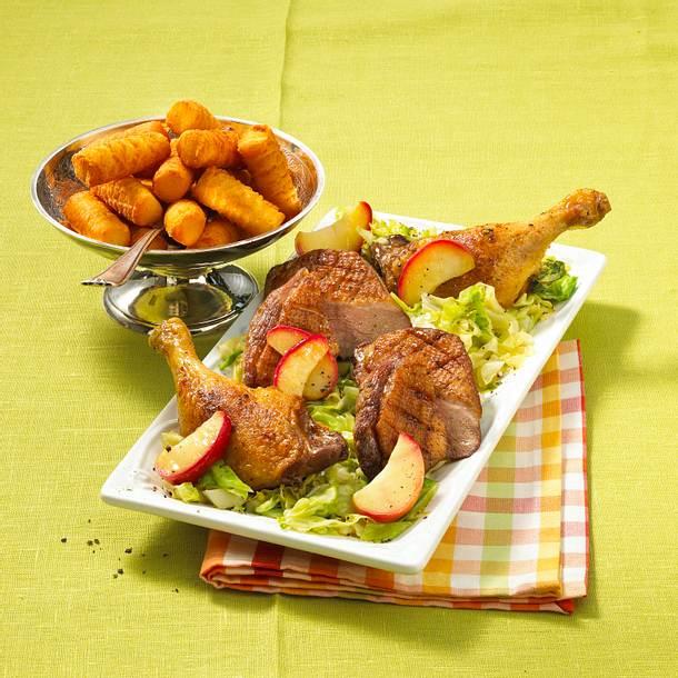 Ente auf karamellisiertem Spitzkohl Rezept