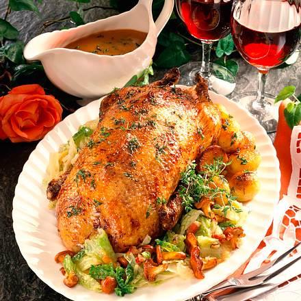 Ente auf Wirsing-Gemüse Rezept