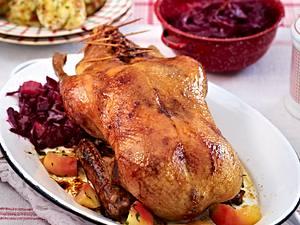 Ente mit Rotkohl und Brioche-Semmelknödeln Rezept
