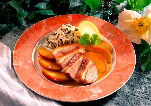Entenbrust auf Calvadosäpfeln Rezept