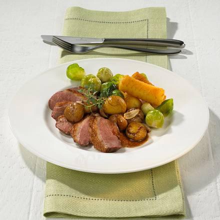 Entenbrust mit Portwein-Maronen Rezept