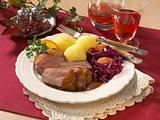 Entenbrust mit Rotkohl und Kartoffelklößen Rezept
