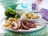 Entenbrust mit Vanillequitten und selbst gemachten Haselnuss-Spätzle Rezept