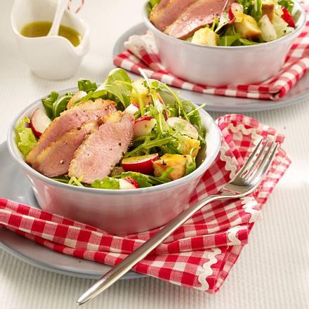 Entenbrust-Salat mit Orangendressing Rezept