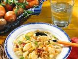 Erbsen-Eintopf mit Grießnocken Rezept