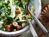 Erbsen-Fenchel-Salat mit Lassi Rezept
