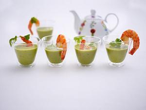 Erbsen-Koriander-Suppe Rezept