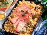 Erbsenpüree mit Kasseler und Sauerkraut Rezept